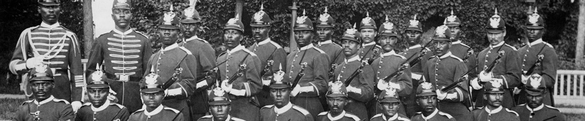 Company B of the Twenty-Fifth United States Infantry, about 1883.