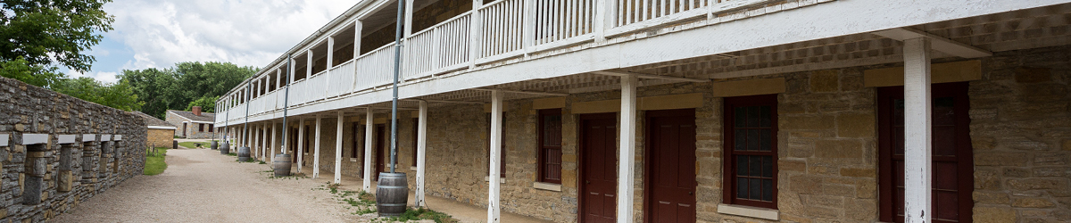 Historic Fort Snelling buildings.