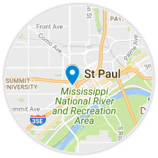 Map of St. Paul.
