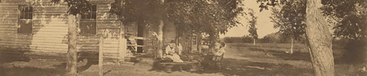 The first Kelley farmhouse, approximately 1865