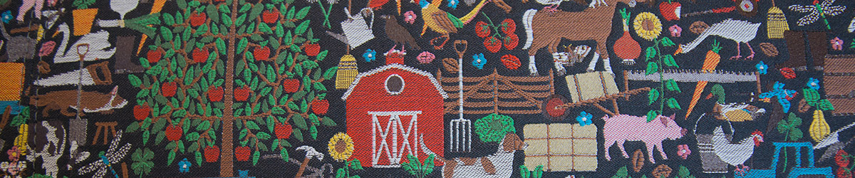 fabric image of farm