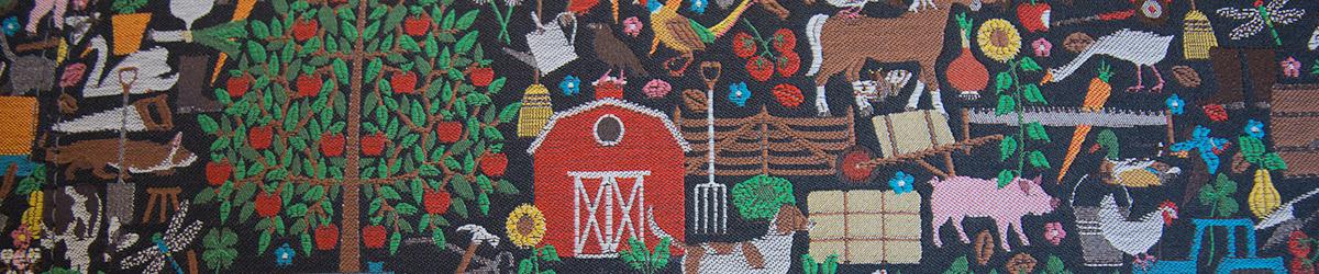 fabric image of farm