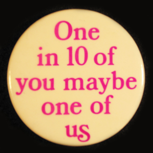 One in 10 GLBT button