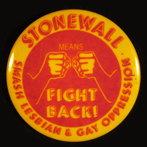 Stonewall GLBT button