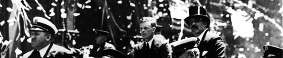 Charles A. Lindbergh and Grover Whalen, New York City ticker tape parade, June 13, 1927.