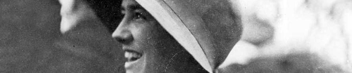 Side profile of Anne Morrow Lindbergh.