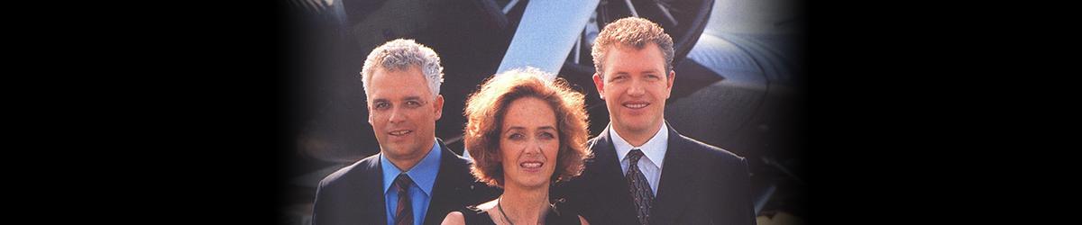 Photograph of Dyrk Hesshaimer, Astrid Hesshaimer Bouteuil, and David Hesshaimer