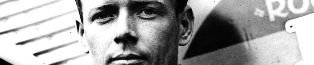 Close-up photo of Charles Lindbergh.