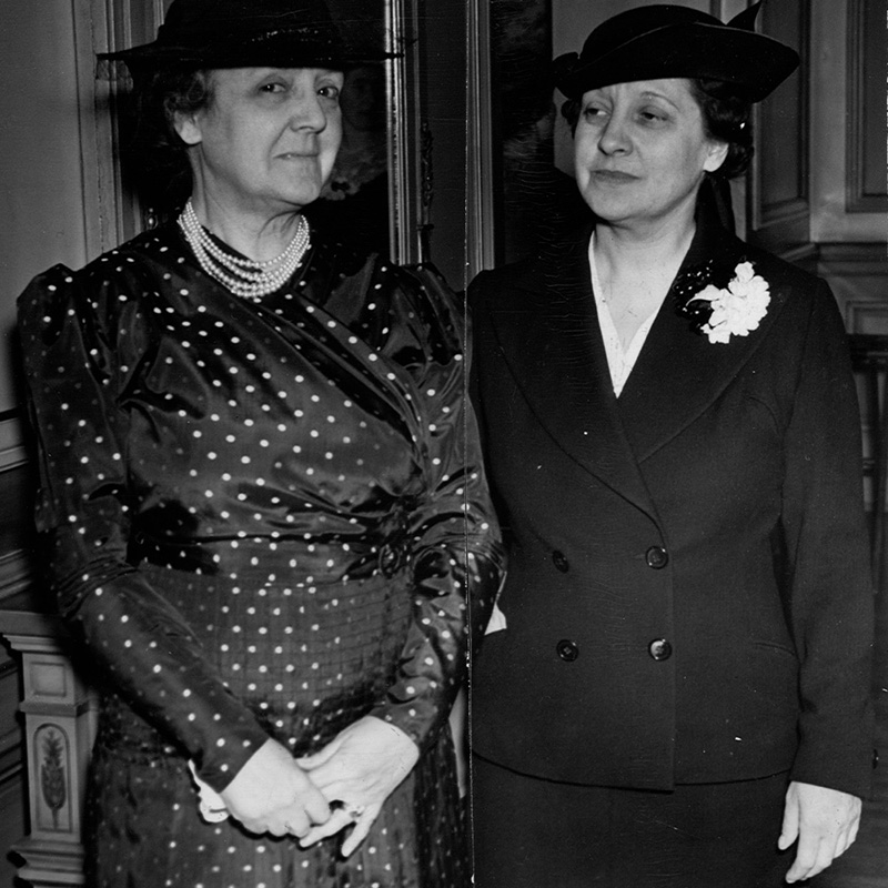 Mabeth Hurd Paige and Gertrude Thomas, 1937.