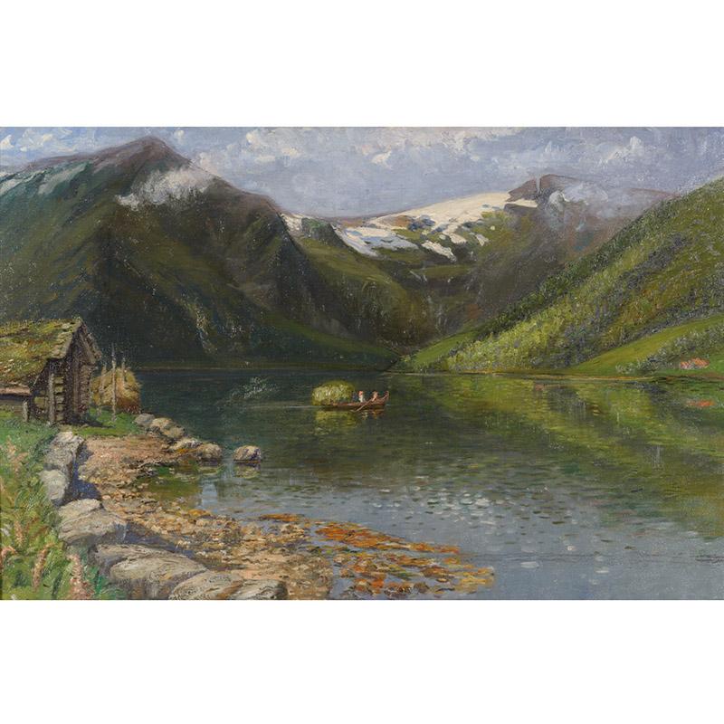 Mabeth Hurd Paige, Norwegian Fjord painting, 1893.