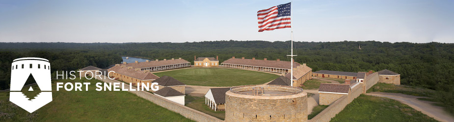Historic Fort Snelling image with logo