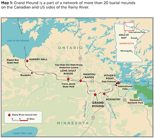 Map Manitou Mounds Canada Grand Mound History | Minnesota Historical Society