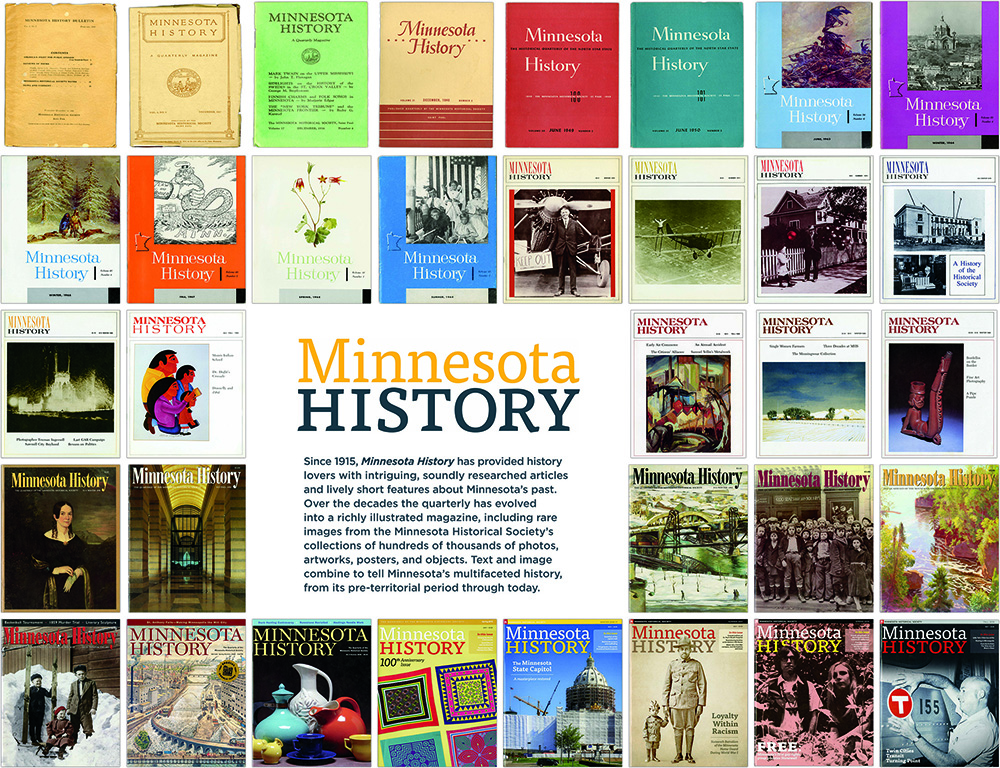 MN History magazine covers