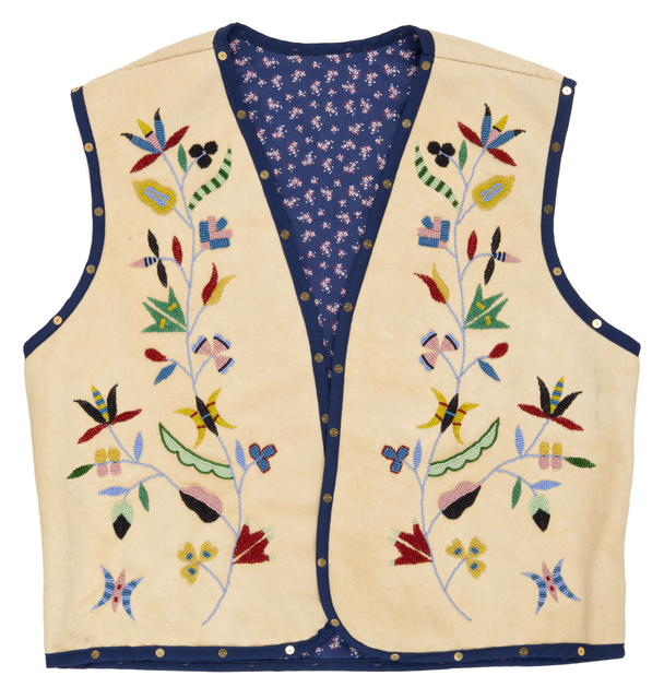 Floral vest by Holly Young