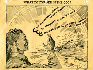 What do you see in the CCC? Poster, ca. 1939-1941. Loc. no. P2593
