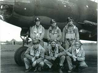 B-26 Bomber flight crew, France, 1944. Duluth native Joe Balach,