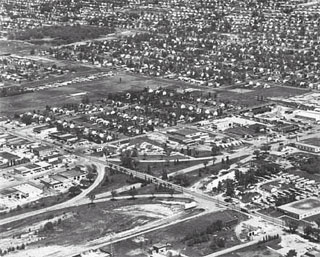 Photo: Aerial view of Lyndale and 78th Street, Richfield, 1965.