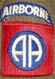 Shoulder patch of the 82nd Airborne Division.