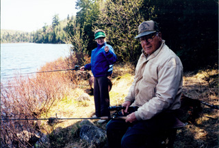 Bill and Vera Amyotte enjoy fishing in Northern Minnesota.