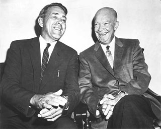 Photo: Ancher Nelsen with President Dwight Eisenhower, 1956.