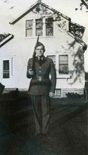 William L. Anderson, wearing his first military uniform, U. of M. R.O.C.T. 