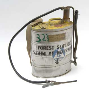 Fire fighter's backpack, ca. 1930.