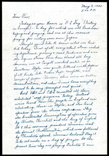 Letter from Arlett Bredeson to Orville R. Mikelson, May 8, 1945.