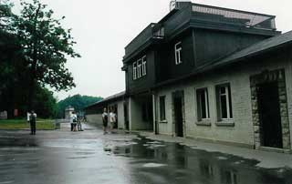 Main gate at Buchenwald Concentration Camp, Germany, 2000.