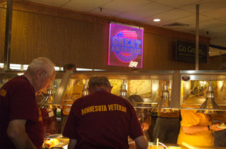 Photo: The Great American Buffet hosted the Minnesota Honor Flight group for dinner.