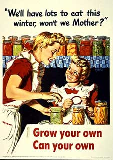 "Object: Poster: ""Grow your own, Can your own,"" 1943."