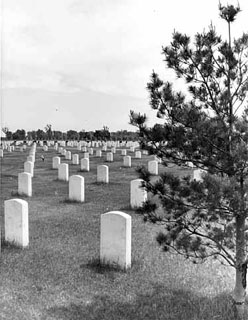 Photo: Fort Snelling National Cemetery, 1949.