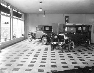 Chevrolet display room, 1926.