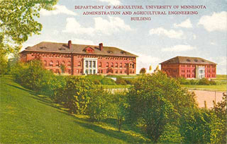 Photo: Administration (Coffey) and Agricultural Engineering Buildings, ca. 1920.