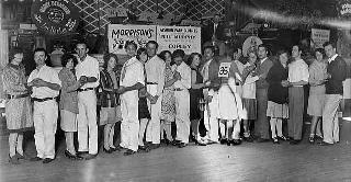 Contestants in the all-Minnesota dance marathon at the Coliseum
