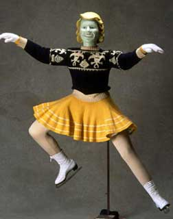 Skating costume worn by Dorothy Snell, ca. late 1930s.