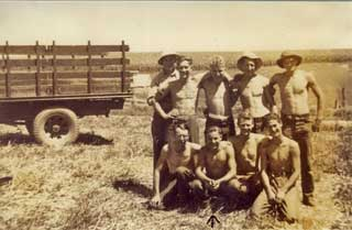 John Buskowiak and fencing crew, Plainview CCC Camp, 1938.