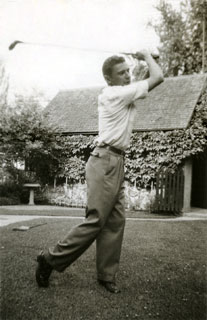 Photo: Bill Cameron, life-long golfer, 1951.