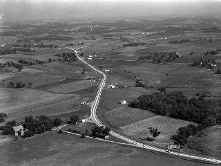 Aerial views of Highways 212 and 169, Eden Prairie, 1936.