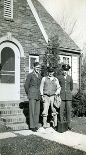 Photo: Bill Cameron and friends, ready to leave for active duty, October 1944.