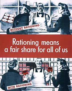 """Rationing means a fair share for all of us"" poster, 1943."