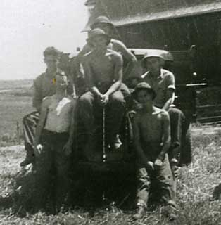 Fencing crew at Plainview, CCC Company 2709, 1938.