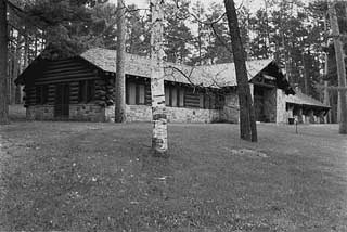 The CCC-built Forest Inn, Itasca State Park, 1978.