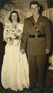 Jane Shields and Orville Freeman on their wedding day, 1942.