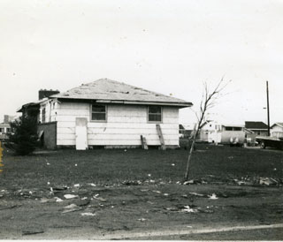 Photo: The Sworsky's home after the Fridley tornado, 1965.