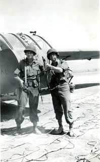 CG-4A glider & 2 glider pilots, ready for action, Southern France invasion, August 1944.
