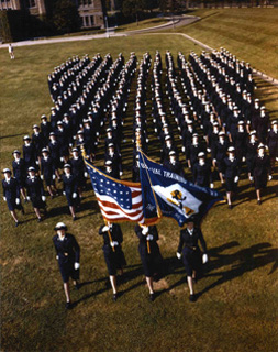 Photo: U.S. Naval Training School, Women's Reserve, The Bronx, New York.