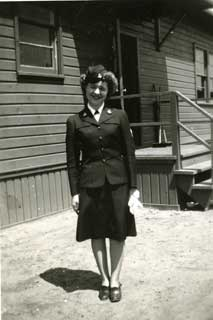 Irene Levin, Yeoman 2nd Class, Astoria Naval Base, Oregon, 1945.