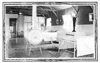 CCC camp infirmary, Nevis, 1936.