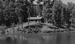 Log cabin built by Civilian Conservation Corps, Itasca State Park,