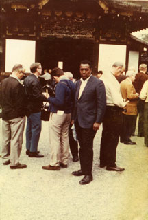 John L. Brown, Sr. while at a business machines conference in Japan, ca. 1960s.